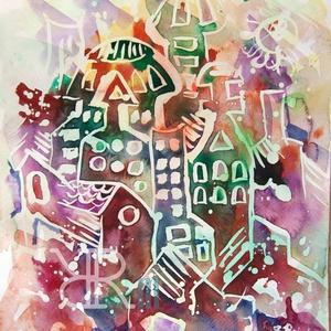 """Akvarell kép - \""""Cukorka\"""", Művészet, Festmény, Akvarell, Festészet, Fotó, grafika, rajz, illusztráció, Akvarell/ Akvarellpapír 32x24 cm 2015. Budapest , Meska"""