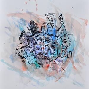 Vízben - akvarell, Művészet, Festmény, Akvarell, Festészet, Fotó, grafika, rajz, illusztráció, Akvarell, filc/ Akvarellpapír 48x36 cm 2016 Budapest, Meska