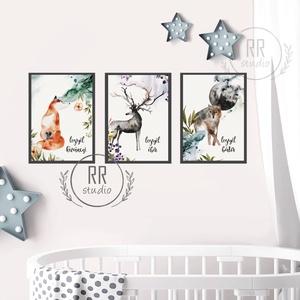 A4-es PRINT SZETT 3DB Vízfesték hatású állatok, Gyerekszoba Kép, babaszoba dekoráció, falikép, állatos, róka, szarvas, Gyerek & játék, Gyerekszoba, Baba falikép, Dekoráció, Otthon & lakás, Fotó, grafika, rajz, illusztráció, A4 Minőségi Papír Print Nyomtatás \n3 DARABOS SZETT / az ár 3 db. képre vonatkozik\n\n* KERET NÉLKÜL *\n..., Meska