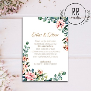 Greenery Esküvői meghívó, natúr, Természetközeli meghívó, Minimal design, leveles meghívó, levél, egyszerű, letisztult, Meghívó, Meghívó & Kártya, Esküvő, Fotó, grafika, rajz, illusztráció, Különleges Minőségi Esküvői Meghívó\n\n* MEGHÍVÓ BORÍTÉKKAL\nMeghívó lap, egy oldalas nyomtatás: kb.: 1..., Meska