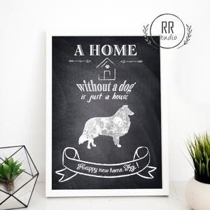 kutya kép, névre szóló, egyedi ajándék, kutya idézet, felirat, az otthon kutya nélkül csak ház, szülinapi ajándék, Otthon & lakás, Dekoráció, Kép, Lakberendezés, Falikép, Fotó, grafika, rajz, illusztráció, A4 Minőségi Papír Print Nyomtatás\n* KERET NÉLKÜL *\n\n\nVásárláskor kérlek írd meg a kívánt nevet.\nA NÉ..., Meska