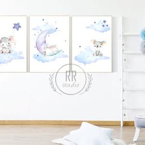 A4-es PRINT SZETT: 3DB Vízfesték hatású állatok, Gyerekszoba Kép, babaszoba dekoráció, falikép, állatos, baby, fiúszoba, Gyerek & játék, Gyerekszoba, Baba falikép, Otthon & lakás, Dekoráció, Fotó, grafika, rajz, illusztráció, A4 Minőségi Papír Print Nyomtatás \n3 DARABOS SZETT / az ár 3 db. képre vonatkozik\n\n* KERET NÉLKÜL *\n..., Meska