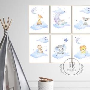 A4-es PRINT SZETT: 6DB Vízfesték hatású állatok, Gyerekszoba Kép, babaszoba dekoráció, falikép, állatos, baby, fiúszoba, Gyerek & játék, Gyerekszoba, Baba falikép, Otthon & lakás, Dekoráció, Fotó, grafika, rajz, illusztráció, A4 Minőségi Papír Print Nyomtatás \n6 DARABOS SZETT / az ár 6 db. képre vonatkozik\n\n* KERET NÉLKÜL *\n..., Meska