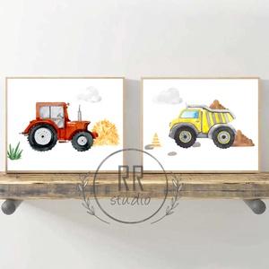 Traktor, dömper, építkezési jármű, mezőgazdasági, autó, fiú szoba, dekoráció, fali kép, A4 méret, Otthon & Lakás, Dekoráció, Kép & Falikép, Fotó, grafika, rajz, illusztráció, A4 Minőségi Papír Print Nyomtatás \n2db kép\n\n* KERET NÉLKÜL *\n\n\n* KIVITELEZÉS & ELKÉSZÍTÉS:\nFelszerel..., Meska