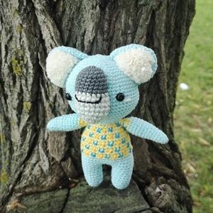 Logan a horgolt koala, Gyerek & játék, Játék, Játékfigura, Horgolás, Varrás, Talpától a fülecskéje tetejéig18 cm magas, 100% pamut fonálból készült horgolt koala, szeme biztonsá..., Meska