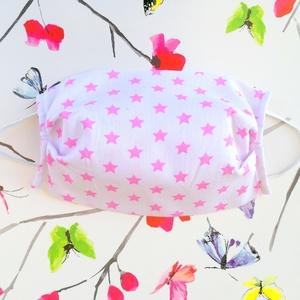1 db gyerek szájmaszk - rózsaszín csillagos szájmaszk - dupla rétegű szájmaszk, pamut szájmaszk - szájmaszk gyermekeknek, Táska, Divat & Szépség, Szépség(ápolás), Maszk, szájmaszk, Gyerek & játék, Varrás, Pamut anyagból készült szájmaszk, amely gumipánttal rögzíthető a fejre, anyaga mosható, ezért többsz..., Meska