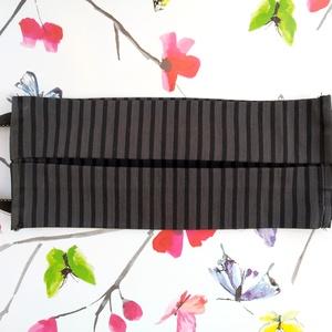 5 db fekete csíkos szájmaszk, többrétegű, mosható, pamut - Maszk férfiaknak, Férfiaknak, Táska, Divat & Szépség, Szépség(ápolás), Maszk, szájmaszk, NoWaste, Varrás, Foltberakás, Pamutból készült textil szájmaszk (többrétegű), amely gumipánttal rögzíthető a fejre, anyaga mosható..., Meska