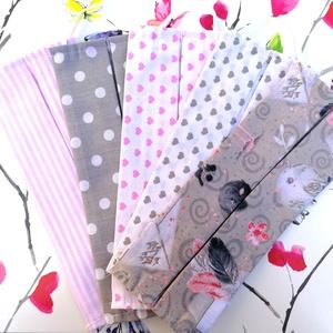 5 db mintás szájmaszk csomag, többrétegű, mosható, pamut - szürke és rózsaszín mintákkal, Táska, Divat & Szépség, Szépség(ápolás), Maszk, szájmaszk, Gyerek & játék, Varrás, Pamut anyagból készült szájmaszk, amely gumipánttal rögzíthető a fejre, anyaga mosható, ezért többsz..., Meska
