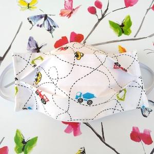 1 db kisautós gyerek szájmaszk - mosható, mintás, dupla rétegű maszk, Táska, Divat & Szépség, Szépség(ápolás), Egészségmegőrzés, Maszk, szájmaszk, NoWaste, Varrás, Pamut anyagból készült szájmaszk, amely fehér gumiszalaggal rögzíthető a fejre.\nA maszk anyaga mosha..., Meska