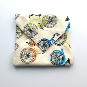 1 db biciklis újraszalvéta - tépőzáras újraszalvéta - vízhatlan újra-szalvéta - mintás újraszalvéta - wrap bag , Táska & Tok, Uzsonna- & Ebéd tartó, Szendvics csomagoló, Varrás, Ez az aranyos újra-szalvéta az egyszer használatos szalvéta, folpack, uzsonnás zacskó és az alufólia..., Meska