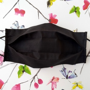 5 db fekete szájmaszk - pamut maszk - maszk hölgyeknek - maszk uraknak , Táska, Divat & Szépség, Szépség(ápolás), Maszk, szájmaszk, Varrás, Pamutból készült textil szájmaszk (dupla rétegű), amely gumipánttal rögzíthető a fejre, anyaga mosha..., Meska