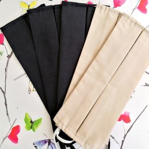 5 db egyszínű szájmaszk - fekete és bézs szájmaszk - dupla rétegű, pamut szájmaszk - uniszex szájmaszk - férfi szájmaszk, Táska, Divat & Szépség, Szépség(ápolás), Maszk, szájmaszk, Férfiaknak, Varrás, Pamutból készült textil szájmaszk (dupla rétegű), amely gumipánttal rögzíthető a fejre, anyaga mosha..., Meska