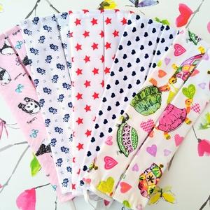 5 db mintás maszk: pandás maszk, virágos maszk, szívecskés maszk, csillagos maszk, teknősös maszk, Táska, Divat & Szépség, Szépség(ápolás), Maszk, szájmaszk, NoWaste, Varrás, Foltberakás, Pamutból készült textil szájmaszk (dupla rétegű), amely gumipánttal rögzíthető a fejre, anyaga mosha..., Meska