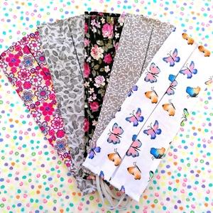 5 db vékony maszk: pillangós maszk, virágos maszk, leveles maszk, indás maszk - egyrétegű maszk , Táska, Divat & Szépség, Szépség(ápolás), Maszk, szájmaszk, NoWaste, Varrás, Pamutból készült textil szájmaszk (egyrétegű), amely gumipánttal rögzíthető a fejre, anyaga mosható,..., Meska