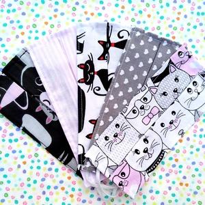 5 db kislányos gyerek méretű vékony maszk: cicás maszk, csíkos maszk, szívecskés maszk - egyrétegű maszk, Táska, Divat & Szépség, Szépség(ápolás), Maszk, szájmaszk, Gyerek & játék, Varrás, Pamut anyagból készült gyerek szájmaszk (egyrétegű), amely fehér gumiszalaggal rögzíthető a fejre, h..., Meska
