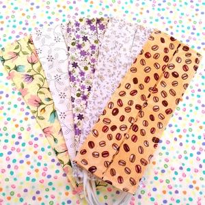 5 db vékony maszk - virágos maszk, kávébabos maszk - maszk hölgyeknek - egyrétegű maszk , Táska, Divat & Szépség, Szépség(ápolás), Maszk, szájmaszk, NoWaste, Varrás, Pamutból készült textil szájmaszk (egyrétegű), amely gumipánttal rögzíthető a fejre, anyaga mosható,..., Meska