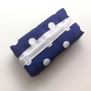 1 db pöttyös zsebkentő tartó tok, papírzsebkendő tartó tok - mintás zsepitartó tok, papírzsebkendő tartó tok, Táska & Tok, Pénztárca & Más tok, Zsebkendőtartó, Varrás, Pamutból készült papírzsebkendő tartó tok, mely kb. 10 db zsebkendő tárolására alkalmas. A zsepitart..., Meska
