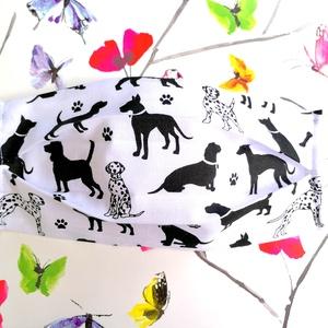 1 db kutyás maszk - mosható dupla rétegű maszk - kutya mintás maszk - dalmatás maszk - uniszex maszk, maszk - maszk, arcmaszk - női - Meska.hu