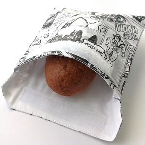 1 db képregényes snackbag, tépőzáras uzsitasak, vízhatlan szendvicstartó, uzsonnás tasak, szendvics tartó újraszalvéta, Táska & Tok, Uzsonna- & Ebéd tartó, Szendvics csomagoló, Varrás, Ez az aranyos uzsitasak az egyszer használatos szalvéta, folpack, uzsonnás zacskó és az alufólia kiv..., Meska