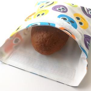 1 db smiley mintás snackbag, tépőzáras szendvics csomagoló - vízhatlan uzsonnás tasak - szendvics csomagoló, Táska & Tok, Uzsonna- & Ebéd tartó, Szendvics csomagoló, Varrás, Ez az aranyos szendvics csomagoló snackbag az egyszer használatos szalvéta, folpack, uzsonnás zacskó..., Meska