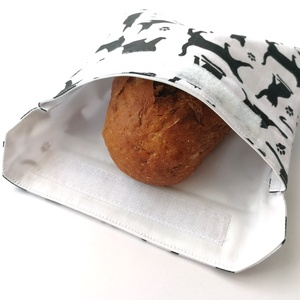 1 db cicás snackbag, tépőzáras szendvics csomagoló - vízhatlan uzsonnás tasak, szendvics csomagoló, újraszalvéta, Ovi- és sulikezdés, Uzsonna- & Ebéd tartó, Szendvics csomagoló, Varrás, Meska