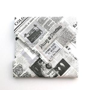 1 db újságpapír mintás tépőzáras újraszalvéta - vízhatlan szendvics csomagoló - szendvics csomagoló, újraszalvéta, Táska & Tok, Uzsonna- & Ebéd tartó, Szendvics csomagoló, Varrás, Ez az aranyos szendvics csomagoló újraszalvéta az egyszer használatos szalvéta, folpack, uzsonnás za..., Meska