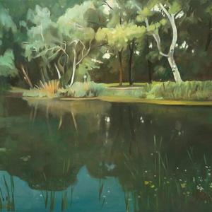 """Gödi tó - art print (olajfestményem alapján), Olajfestmény, Festmény, Művészet, Festészet, \""""GÖDI TÓ\"""" art print (olajfestményem alapján) \nMéret: 30 x 37 cm\nVakrámás vászonra nyomtatva.\n\nA Gicl..., Meska"""