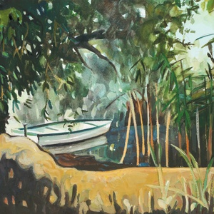 """Kikötő Szepezden - art print művészi papíron (akvarellfestményem alapján), Akvarell, Festmény, Művészet, Festészet, \""""KIKÖTŐ SZEPEZDEN \"""" art print művészi papíron (akvarellfestményem alapján)\nMéret: 24 x 32 cm\n\nA prin..., Meska"""