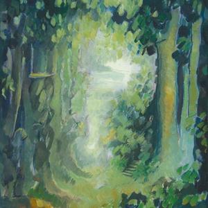 """Titkos lépcső - art print művészi papíron (akvarellfestményem alapján), Akvarell, Festmény, Művészet, Festészet, \""""TITKOS LÉPCSŐ \"""" art print művészi papíron (olajfestményem alapján)\nMéret: 24 x 33 cm\n\nA print 240 g..., Meska"""