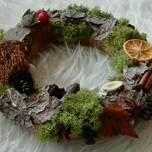 Adventi koszorú, kopogtató zöld (RusticRoom) - Meska.hu