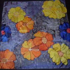 Hat szirmú virágok lila márványon (126) (Rzsok) - Meska.hu