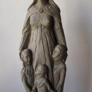 Szobor választható szentről, Képzőművészet, Otthon & lakás, Szobor, Kerámia, Szobrászat, Kerámia, A választott szentet ábrázoló kisplasztika.\n25-40cm magasságú terrakotta szobrok. \nNévre szóló, dátu..., Meska
