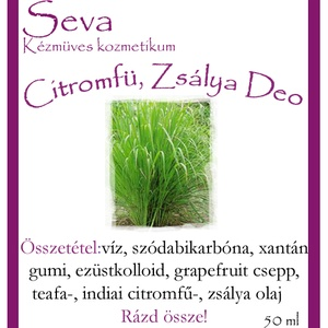 Citromfű golyós deo 50 ml, alumínium és toxin mentes (Saleva) - Meska.hu