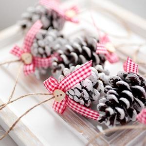 Karácsonyi toboz díszek, Karácsonyfadísz, Karácsony & Mikulás, Mindenmás, 9db toboz dísz , Meska