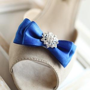 Brossos alkalmi cipőklipsz, Esküvő, Cipő & Cipődísz, Cipődísz, Varrás, A cipő elejére és oldalára is felhelyezhető. 1 pár\n, Meska