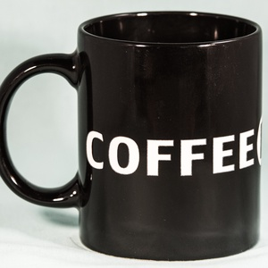 Egyedi Kávé rajongó bögre -Minimalista Fekete- (SandblastDesign) - Meska.hu