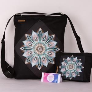 Türkizkék Mandala táska + választható kiegészítők!, Táska & Tok, Variálható táska, A strapaíró anyagok kedvelőinek, itt a Cordura táskánk!  Mi is ez a Cordura? • High-tech szintetikus..., Meska