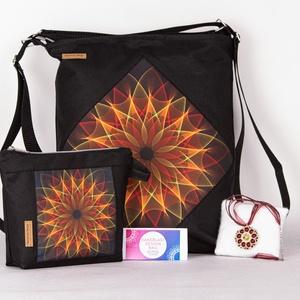 Piros Mandala táska + választható kiegészítők!, Táska & Tok, Variálható táska, A strapaíró anyagok kedvelőinek, itt a Cordura táskánk!  Mi is ez a Cordura? • High-tech szintetikus..., Meska