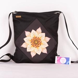 2in1 -Virágszirmos mandala hátizsák és válltáska egyben!, Táska & Tok, Variálható táska, A strapaíró anyagok kedvelőinek, itt a Cordura táskánk!  Mi is ez a Cordura? • High-tech szintetikus..., Meska