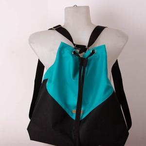 """Variálható Design Táska, Türkiz/Rózsaszín """"shopper bag"""", Táska & Tok, Variálható táska, A hátizsákjaink kényelmét ötvöztük a tornazsákok egyszerűségével ennél a modellnél. Az anyaghasznála..., Meska"""