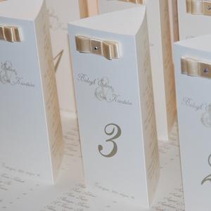 Mimi esküvői menükártya, Menü, Meghívó & Kártya, Esküvő, Papírművészet, Esküvői menükártya csomag - egyedi szöveggel, 10 db\n\nA képen látható stílusú, kézzel készített, minő..., Meska