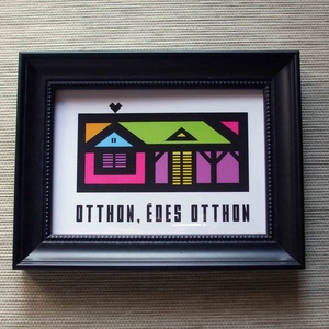 Otthon, édes otthon - ajándék házavatóra, fali dekoráció (Arteria) - Meska.hu