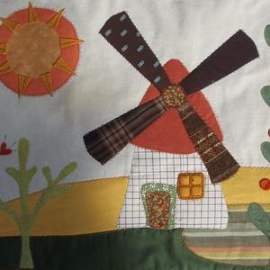 Keskeny falikép, szélmalmos-macskás 150 x 60 cm (Sarahuncutsagai) - Meska.hu