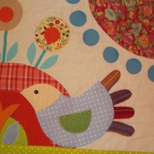 Világos, madaras mesefalvédő 120 x 90 cm (Sarahuncutsagai) - Meska.hu