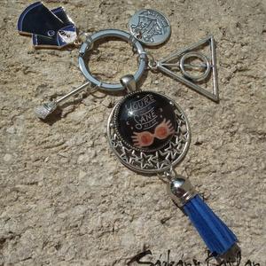 Luna Lovegood, Harry Potter, Roxfort kulcstartó, vagy táskadísz, Táska & Tok, Kulcstartó & Táskadísz, Kulcstartó, Ékszerkészítés, Meska