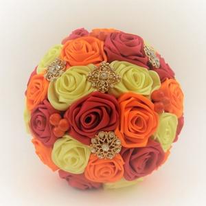 'SATIN RIBBON' csokor, Dekoráció, Esküvő, Csokor, Esküvői csokor, Virágkötés, Az örökcsokor kitűnő választás minden alkalomra, egyedi és maradandó kézműves ajándék. Adható szüle..., Meska