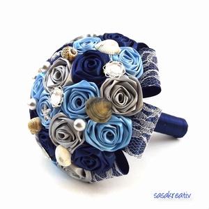 \'SATIN RIBBON ROSES\' csokor KÖZEPES, Csokor & Virágdísz, Dekoráció, Otthon & Lakás, Virágkötés, Az örökcsokor kitűnő választás minden alkalomra, egyedi és maradandó kézműves ajándék. Adható szület..., Meska
