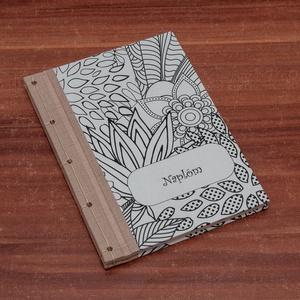 Színezhető borítójú, A5 notesz, napló, jegyzetelő, Művészet, Grafika & Illusztráció, Könyvkötés, Papírművészet, Ha igazán egyedire vágysz, akkor ne keress tovább!\nA5 napló, emlékkönyv, jegyzetelő sima, üres lapok..., Meska