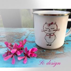 Macskás bögre (SCDESIGN) - Meska.hu