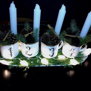 Karácsonyi bögrék, Dekoráció, Konyhafelszerelés, Otthon, lakberendezés, Bögre, csésze, Festett tárgyak, Kerámia,  Karácsonyra, Születésnapra vagy bármilyen ünnepre rendelhető bögrék. 3 dl-es bádog , azaz zománc r..., Meska